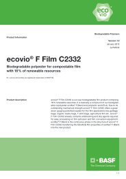 ecovio® F Film C2332 - Product Data Sheet - BASF Plastics Portal