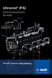 Ultramid (PA) - Sortimentsübersicht (Europa) - BASF Plastics Portal