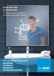 From the idea to production – The Aqua® plastics portfolio for the ...
