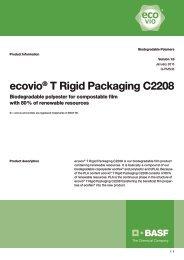 ecovio® T Rigid Packaging C2208 - BASF Plastics Portal