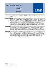 Ultramid® B3EG6 SI - Produktdatenblatt - BASF Plastics Portal