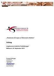 Pressemappe gesamt - Österreichische Gesellschaft für Plastische ...