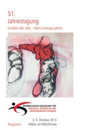 51. Jahrestagung - Österreichische Gesellschaft für Plastische ...