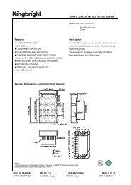 30mm (1.2 INCH) 5x7 DOT MATRIX DISPLAY Features Description ...