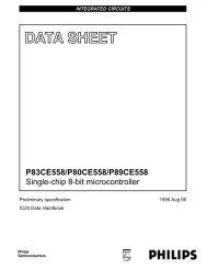 P83CE558/P80CE558/P89CE558 Single-chip 8-bit microcontroller