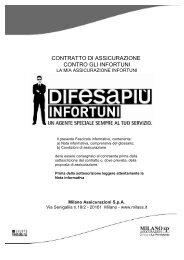 Fascicolo Informativo Difesa Piu Infortuni - plataroti assicurazioni