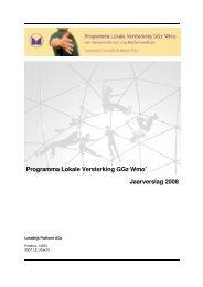 Jaarverslag 2008 - Landelijk Platform GGz