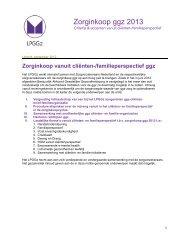 Criteria - Landelijk Platform GGz