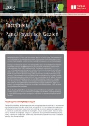 2013 Factsheet Panel Psychisch Gezien - Trimbos-instituut