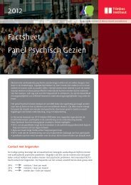2012 Factsheet Panel Psychisch Gezien