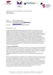 Miljoenennota 2012, Zorg(en) - Landelijk Platform GGz