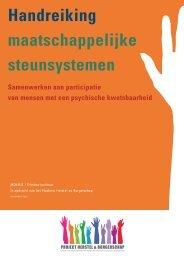Handreiking maatschappelijke steunsystemen - GGZ Nederland