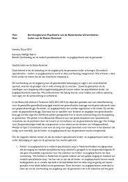 brief - Zorg over de jeugd-ggz