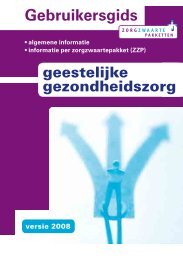 Gebruikersgids zzp 2008 Ministerie van VWS - Landelijk Platform GGz