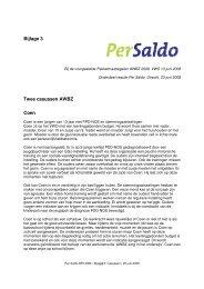 Bijlage 3 - Casussen bij voorgestelde pakketmaatregelen AWBZ 25 ...
