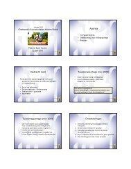 Presentatie Toekomst Sportaccommodaties - Platform Sport Houten