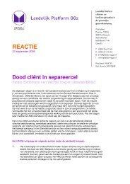 Landelijk Platform GGZ 2008-09-23 - Dood client in ... - Wim Maljaars