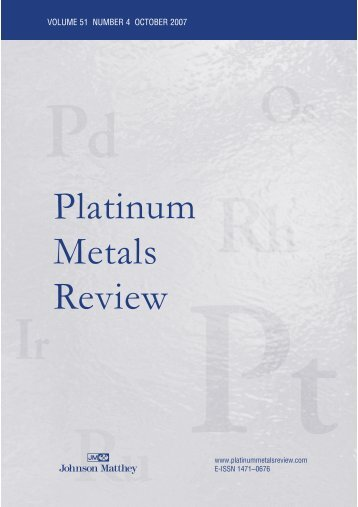 Platinum Metals Review