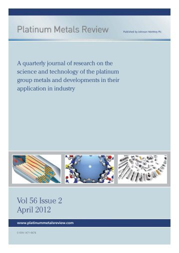 Download Issue PDF - Platinum Metals Review