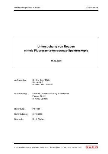 Strube J. 2008 Untersuchungen von Roggen mittels Fluoreszenz ...