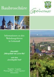 Baubroschüre Grünstadt