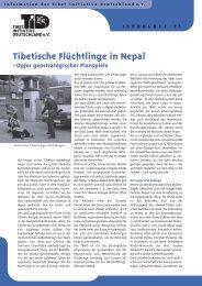 Tibetische Flüchtlinge in Nepal - plattenblatt