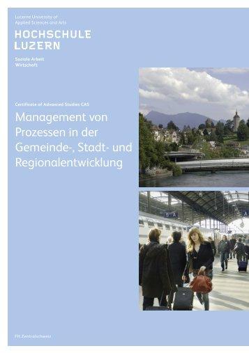Management von Prozessen in der Gemeinde-, Stadt - Plattform GSR