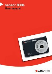 AgfaPhoto sensor 830s User manual - plawa