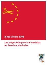 Juega Limpio 2008 Los Juegos Olímpicos sin ... - Play Fair 2008