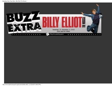 Broadway Buzz: Buzz Extra- Billy Elliot The Musical - Playhouse ...