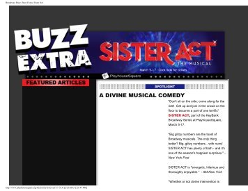 Broadway Buzz: Buzz Extra- Sister Act - Playhouse Square