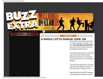Broadway Buzz: Buzz Extra- Million Dollar Quartet - Playhouse Square