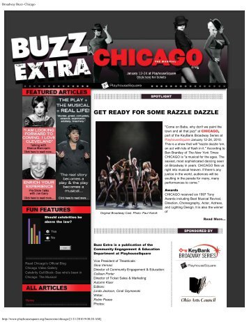Broadway Buzz- Chicago - PlayhouseSquare