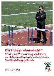 Die Hürden überwinden : - Play Fair 2008