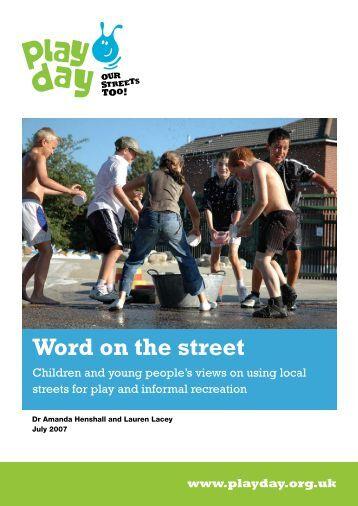 Word on the street - Play Scotland