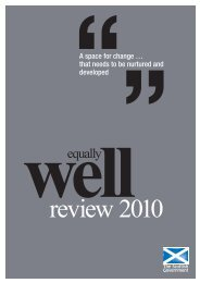 Equally Well Review 2010 - Scottish Government