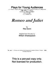 ROMEO & JULIET - Plays for Young Audiences