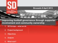 Improving football governance through supporter ... - Play the Game