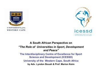 The Role of Universities in Sport, Development and ... - Play the Game