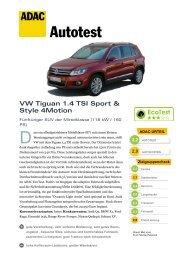 VW Tiguan 1.4 TSI Sport & Style 4Motion - ADAC