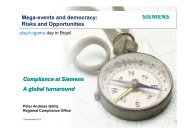 Compliance at Siemens A global turnaround Mega ... - Play the Game