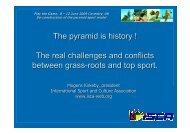 The pyramid is history ! The real challenges and ... - Play the Game