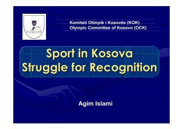 Sport in Kosova - Play the Game