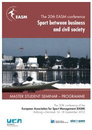 Sport between business and civil society - University College of ...