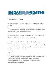 Copenhagen 8-11-2005 - Play the Game