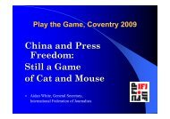 Media freedom in China - how far does it reach - Play the Game
