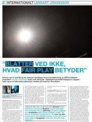 "BLATTER VED IKKE, HVAD FAIR PLAY BETYDER"" - Play the Game"