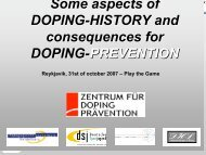 Some aspects of DOPING-HISTORY and ... - Play the Game