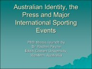Australian Identity, the Press and Major ... - Play the Game