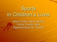 Sports in Children's Lives - Play the Game